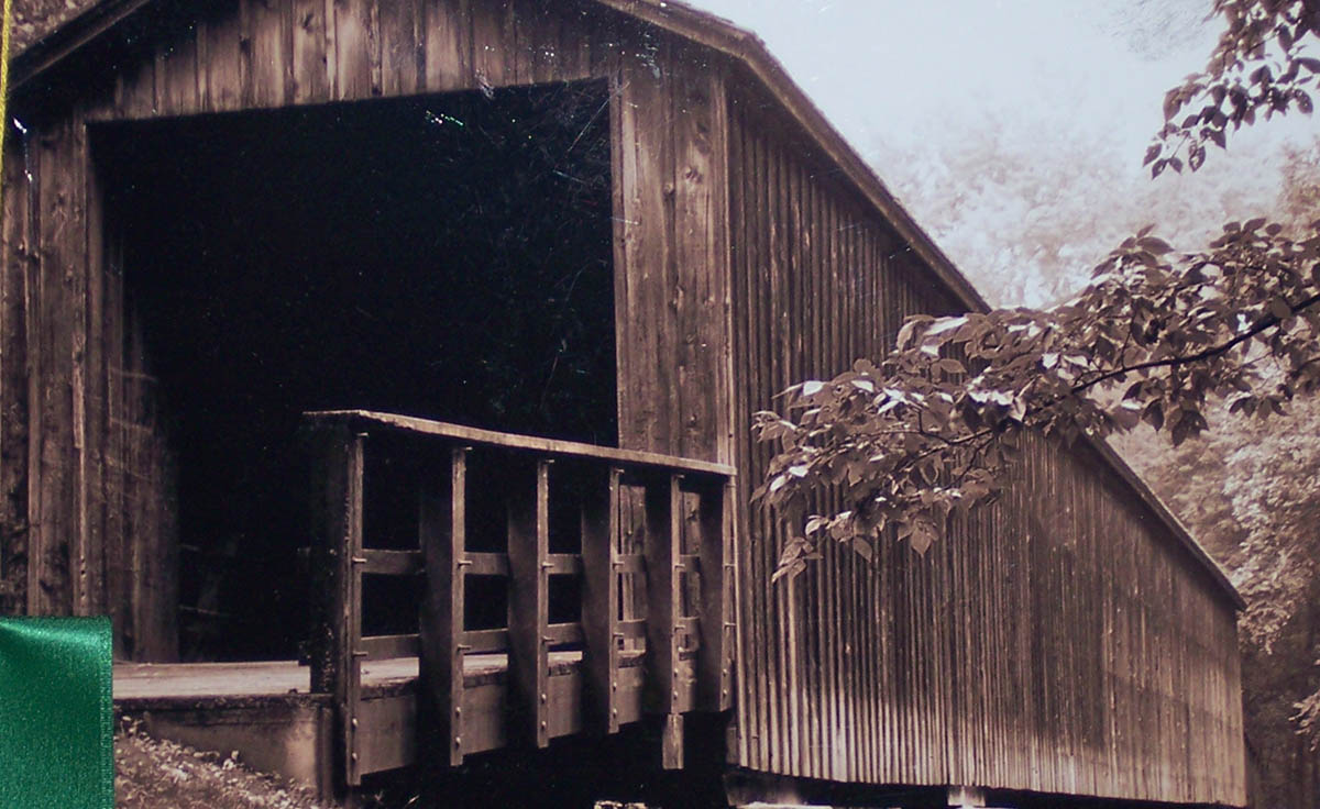 Honorable Mention - Architecture & Machines - Locust Creek Covered Bridge - Lisa Bergeson
