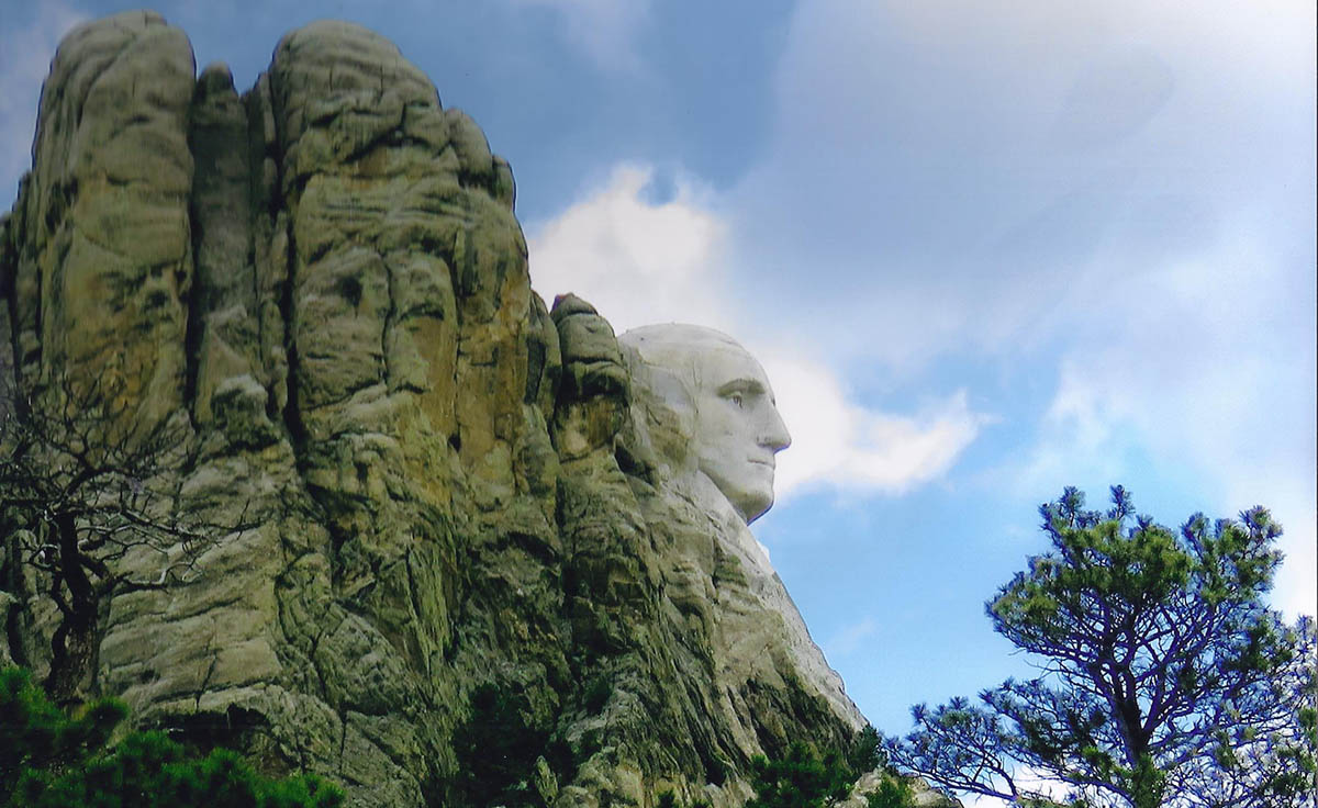 Honorable Mention - Landscapes & Scenics - George Washington, Mt Rushmore, SD - Willis Hoyt