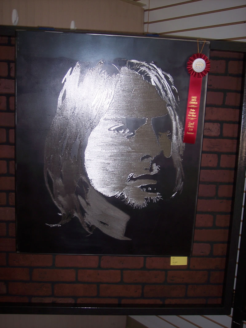 2nd Place Amateur 3-D Bob Augello Kurt Cobain